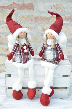 Christmas Sewing, Christmas Gnome, Primitive Christmas, Scandinavian Christmas, Christmas Angels, Handmade Christmas, Christmas Ornaments, Country Christmas Decorations, Theme Noel