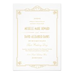 DealsArt Deco Style Wedding InvitationThis site is will advise you where to buy
