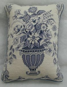 Williamsburg Furber Wedgewood Urn I Needlepoint Pillow