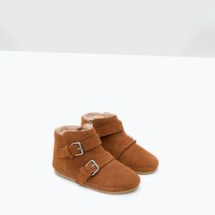 Image 4 of LEATHER BOOTS WITH BUCKLE DETAIL from Zara