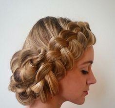 Beautiful chic wedding hairstyle by Megan of Hollibeauty #weddinghair #chicagowedding #stylemepretty #weddinghairstyles #updos #braids