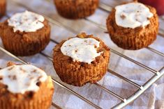 Apple Pie-Spiced Muffins (No Added Sugar, Grain-Free) Recipe Desserts, Breads with eggs, applesauce, vanilla, coconut oil, coconut flour, baking soda, sea salt, cinnamon, nutmeg, cardamom, apples