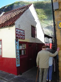 Whitby smoked kipper shack. I can smell it from here.