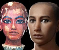 Forensic scientists and artists completed in 2005 the first ever facial reconstructions of King Tut using CT scans of his mummified remains. The pharaoh's reconstructed facial composition turned out to be strikingly similar to ancient portraits of Tut