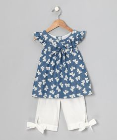 Take a look at this Navy Bow Swing Top & Pants - Infant, Toddler & Girls  by Fantaisie Kids on #zulily today!