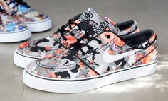 """Nike Skateboarding is now on its third take with the Janoski in a """"floral camo"""" print. The third edition features..."""