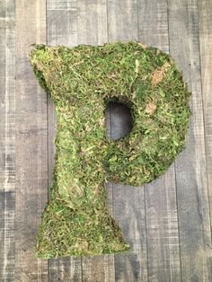 DIY Moss Covered Monogram | a purdy little house