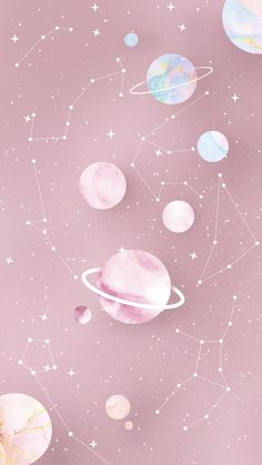 Zodiac and Planets Wallpaper 2 by Gocase - # . longbob Zodiac and Planets Wallpaper 2 by Gocase - # Zodiac Deutsch Professionelle Fot. Tumblr Wallpaper, Wallpaper Pastel, Wallpaper Space, Pink Wallpaper Iphone, Iphone Background Wallpaper, Aesthetic Pastel Wallpaper, Galaxy Wallpaper, Disney Wallpaper, Aesthetic Wallpapers