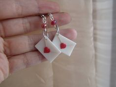 polymer clay vaalentine's day earrings https://www.facebook.com/ClayMiniGifts/