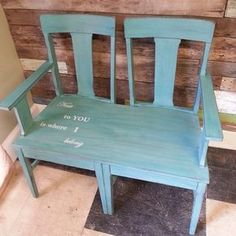 Great bench seat from 2 matching chairs