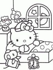 desenho hello kitty casa dormindo