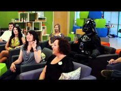 Brainstorming with Darth Vader for Disney's Star Wars Weekends using a SMART Board