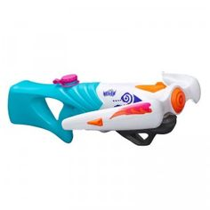 The Nerf Rebelle Super Soaker Tri Threat is a pump-action water blaster crossbow that shoots three separate streams of water up to 35 feet.