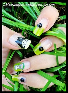 totoro! I don't like how long the nails are but yes! I love them