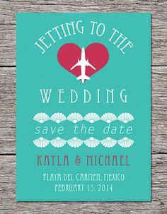 "Printable Destination Wedding ""Save the Date"" Card"