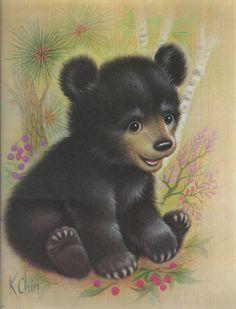 K Chin Print  Bernard Picture Co Inc 'Black Bear by hellonikita, $5.00