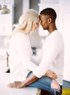 In Home Couples Session — Calgary Wedding Photographers Interracial Couples, Interracial Wedding, Black Couples Goals, Couple Goals, Couple Ideas, Mixed Couples, Cute Couples, Engagement Couple, Engagement Session