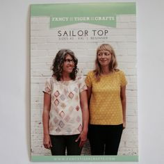 """Sizes XS - XXL (bust 32 - 45"""", hip 35 - 48"""")""""The Sailor Top pattern is an easy-to-wear and easy-to-sew raglan sleeve top with a sweet gathered neckline. Its A-line shape is never clingy. This wardrobe staple is oh-so-practical for everyday wear and looks great in many different fabrics. Go crazy with prints or use a simple chambray. Either way it will be just darling!""""NB: $5 flat envelope postage is available for 1 - 2 patterns (depending on size) by callin..."""