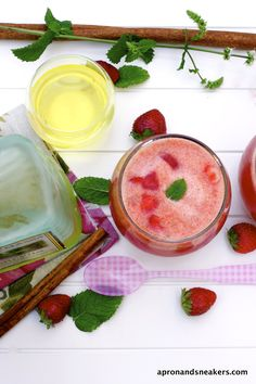 Apron and Sneakers - Cooking & Traveling in Italy and Beyond: Strawberry & Pineapple Shake with Limoncello (Frullato di Fragole e Ananas con...