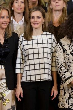 Queen Letizia of Spain attends several audiences at Zarzuela Palace on November 3, 2014 in Madrid, Spain.