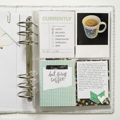 Week in the Life 2016 {Sunday} Project Life 6x8, All Paper, Sunday, Stress, Bullet Journal, Memories, Words, Projects, Memoirs