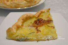 Torta salata con patate speck e scamorza