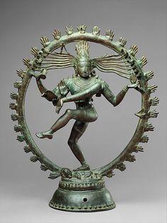 Shankara as Lord of Dance (Nataraja) from the Chola period (880-1279) circa 11th century...part of Asian Art