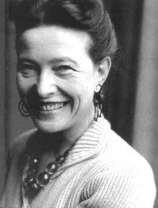 Simone de Beauvoir,  writer and philosopher, 40s,