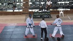 Spinning kick knockout in 2014 International Taekwon-Do Federation Oceanic Championships.