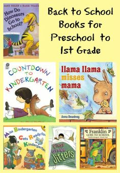 This actually has suggestions for Pre K-Middle school; {Great Back-to-School Books for Preschool thru Grade} -- use some of these fun reads to help kids adjust to their new grade level! Preschool Literacy, Preschool Books, In Kindergarten, Book Activities, Montessori Books, Literacy Centers, Beginning Of School, New School Year, Pre School