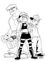 The Goon and Hawt Girl by KidNotorious