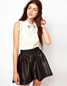 Vero Moda Gem Collar Sleeveless Shirt