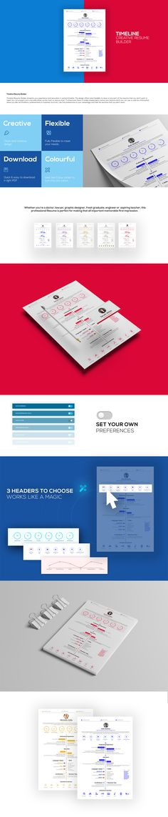 Flexi Resume Builder Template enables you create your CV online - resume buider