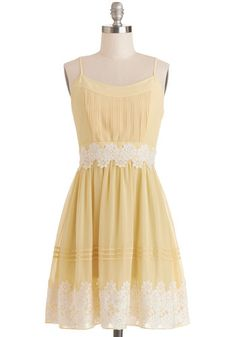 Life is But a Gleam Dress in Yellow, #ModCloth