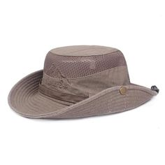 7eb9a7c699b3b Mens Summer Cotton Embroidery Visor Bucket Hats