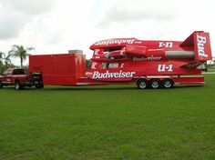 The most famous hydro-offshore race boat, Miss Budweiser