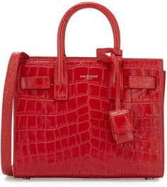 b23ed431c283 Get one of the hottest styles of the season! The Saint Laurent Toy Sac De  Jour Croc-embossed Red Tote Bag is a top 10 member favorite on Tradesy.
