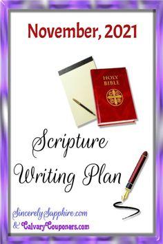 November 2021 Scripture Writing Plan-Thankfulness |