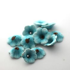 Wildflower polymer clay beads by Too aquarius on etsy, $10