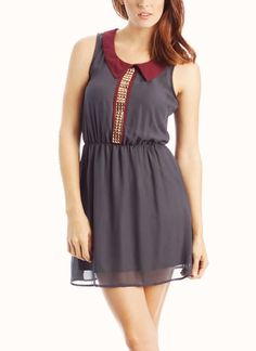 studded chiffon dress. In place of studs,A.print