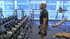Former NFL All-Pro running back Tiki Barber shows you how to build bigger biceps and shoulders with this multi-exercise bicep routine.