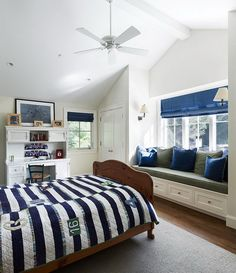 blue and white traditional boys bedroom by taylor lombardo architects http://hative.com/30-cool-boys-bedroom-ideas-of-design-pictures/