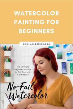 Are you wanting to learn how to watercolor paint? Check out my book No-Fail Watercolor to learn how to create watercolor art! Hey, I'm Mako from the YouTube channel 'makoccino'! Here you will find my tips and tutorials on how to do watercolor paintings! Find me on Instagram @makoccinos #watercolor #watercolorartist #howtowatercolor Watercolor Lettering, Watercolor Paintings, Katie Jobling, Noble Books, Watercolor Projects, Watercolor Wallpaper, Finding Joy, Color Theory, Beautiful Artwork