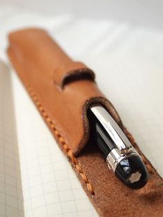 Personalized Pen Case Leather Handstitched by harlex