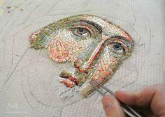 Mosaic Art, Mosaic Tiles, Mosaic Supplies, Art Premier, Byzantine Icons, Orthodox Icons, Drawings, Illustration, Inspiration