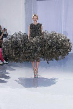 "Paris Haute Couture Fashion Week... looks like a big ""scrubbie"" or steel wool pad."