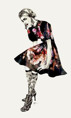 Fashion illustration of Dolce's FW13 by Connie Lim and Marcus Kan - Swide Magazine