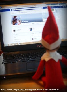 Elf on The Shelf Ideas – Buddy Elf on Facebook #ElfontheShelf #ElfontheShelfIdeas