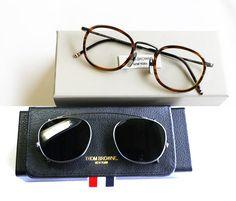 THOM BROWNE Eyeglasses Frames Or Sunglasses men women Optical Titanium prescription eyeglasses TB710 with clip and Original box