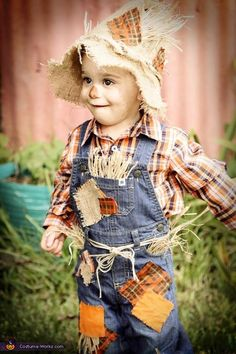 He actually loves wearing all that itchy stuff. Scarecrow - Homemade costumes for babies